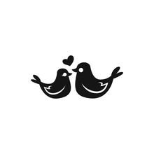 Lovebirds Icon Illustration