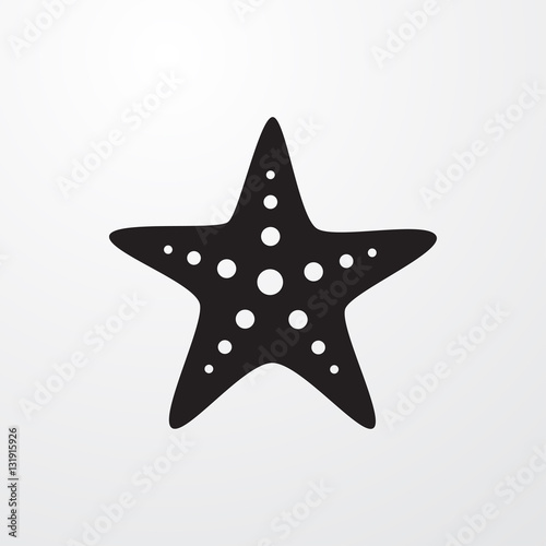 starfish icon illustration