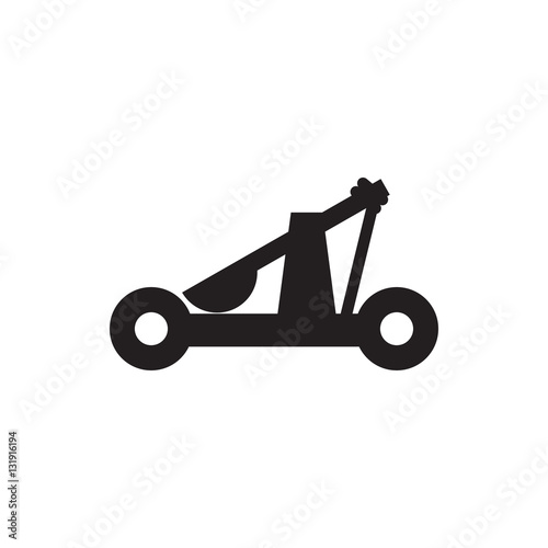 Photo catapult icon illustration