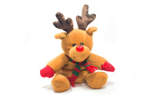 Reindeer Doll Isolated On Whit...