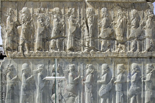 Photographie Relief of historical Persepolis ancient city, Iran
