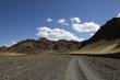 Straße durch die Wüste Gobi