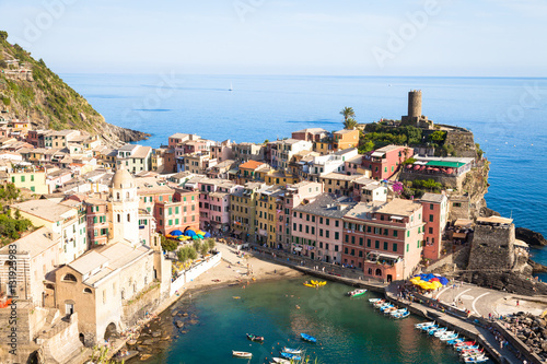 Poster Northern Europe Vernazza in Cinque Terre, Italy - Summer 2016 - view from the hi