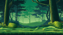 Seamless Background With Forest
