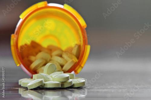 Fotografie, Obraz  Bottle of benzodiazepine tranquilizers or sedative hypnotic anti