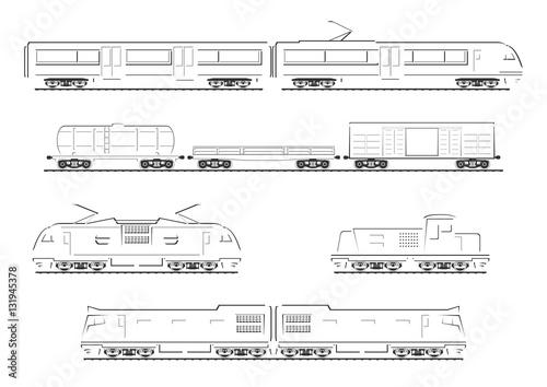 Fotografie, Obraz  Train collection