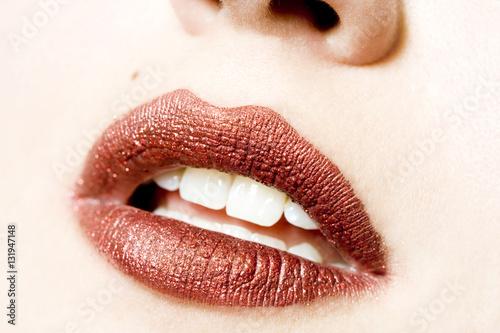 Foto op Plexiglas Beauty Glitter lips