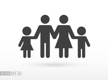 Family Flat Icon. Sign Family