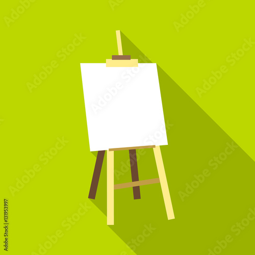 Photo  Easel icon. Flat illustration of easel vector icon for web