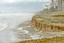 Beach Erosion After Storm Activity