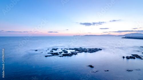 Foto op Aluminium Poolcirkel Mare al tramonto ad Alghero in Sardegna