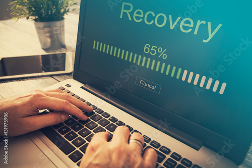 Fototapeta data backup restoration recovery restore browsing plan network