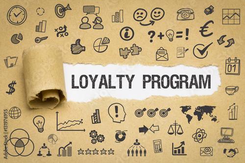 Photo Loyalty Program Papier mit Symbole