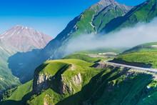 Misty Mountain On The Georgian Military Road, Georgia