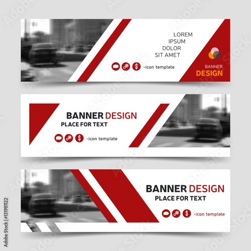 Red modern horizontal business banner templates buy this stock red modern horizontal business banner templates wajeb Choice Image
