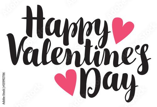 Obrazy z napisami  vector-inscription-happy-valentines-day-with-hearts