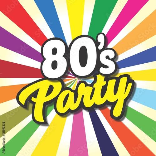 Fotografia  80's party label