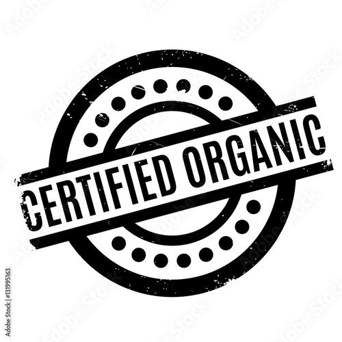 Fotografia, Obraz  Certified organic rubber stamp
