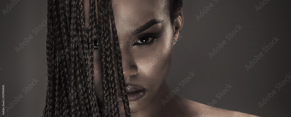 Fototapety, obrazy: Portrait of beautiful african girl.