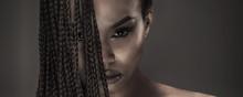 Portrait Of Beautiful African Girl.