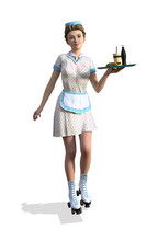 1950's Style Carhop Girl