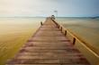 wooden bridge to the ocean