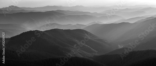 Photo Stands Pale violet Black and White Mountain Landscape