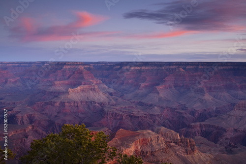 Foto op Aluminium Aubergine Grand Canyon's Yaki Point Overlook at sunrise