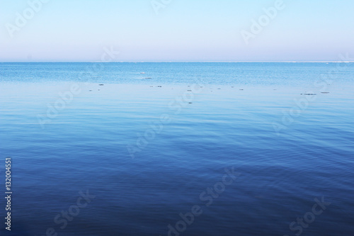 Clear water surface lake - copy space