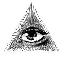 Eye In Triangle, Masonic Symbol