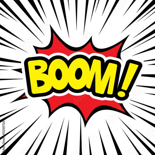 Fotografie, Obraz  Comic graphic design for explosion blast BOOM