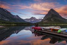 Dawn At Glacier National Park