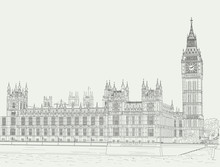 Sketch The Palace Of Westminster