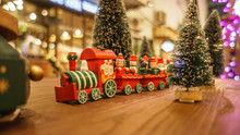 Christmas Toy Train And Happy ...
