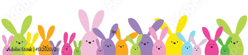 Easter banner. Easter bunny family. Design element. Wallpaper Mural