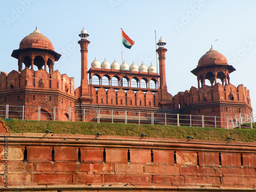 Fortification Red Fort, Stunning Fortress in New Delhi of India