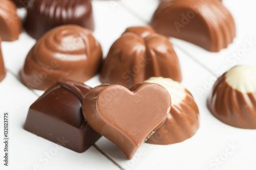 Fotografía  Bombones de chocolate