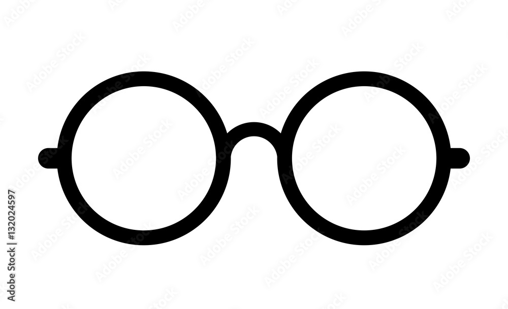 Fototapeta Retro eye glasses vector icon