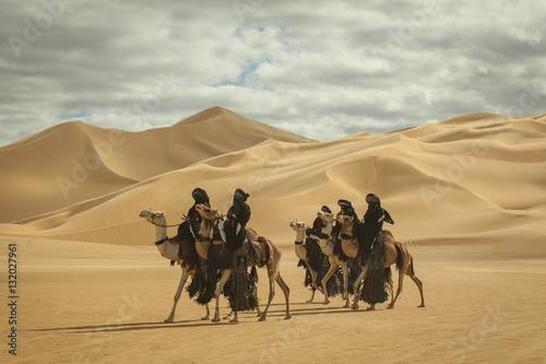 Keuken foto achterwand Kameel Group of Tuareg