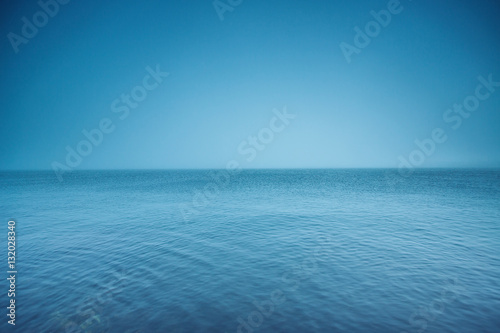 Poster Mer / Ocean Cloudy horizon. Fog over the sea waves, natural background