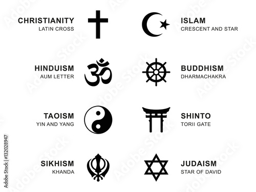 World Religion Symbols Eight Signs Of Major Religious Groups And