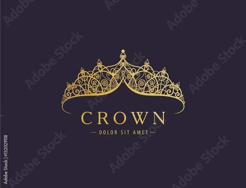 Cuadros en Lienzo Abstract luxury, royal golden company logo icon vector design.