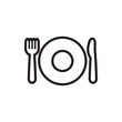 plate fork and spoon icon illustration