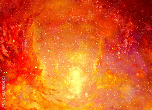 Fotomural Cosmic space and stars, color cosmic abstract background.