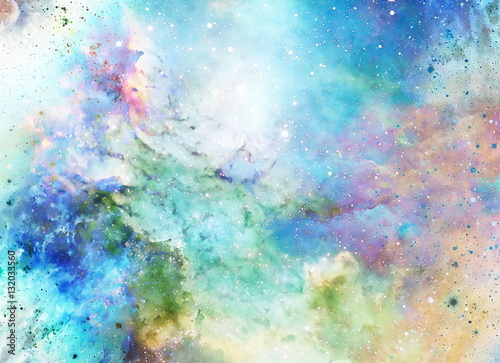 Photo Cosmic space and stars, color cosmic abstract background.