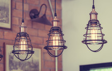 Antique Pendant Cage Light And...