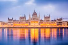 Sunrise At Budapest Parliament, Hungary