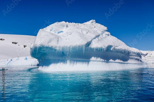 Tuinposter Ijsbeer Eisberg in der Antarktis