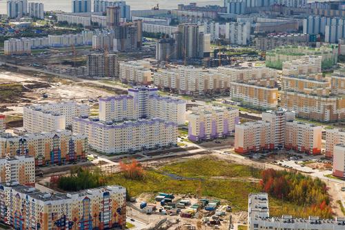 Papiers peints Barcelona Nizhnevartovsk city, top view