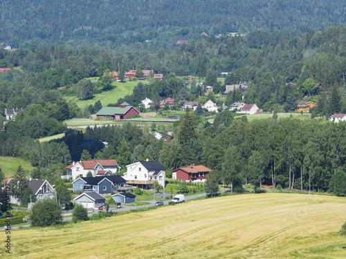 Photo  Norwegian suburb near Oslo